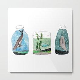 whales in a jar Metal Print