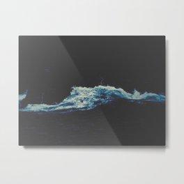 Dark Blue Water Waves MInimalist Photo Ocean Metal Print