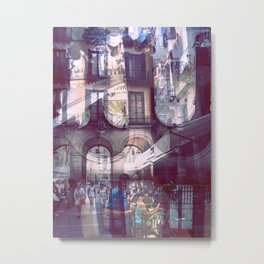 Friday 30 August 2013: Residents express illusory algorithmical laughter. Metal Print
