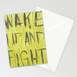 Wake Up and Fight Stationery Cards