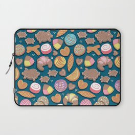 Mexican Sweet Bakery Frenzy // turquoise background // pastel colors pan dulce Laptop Sleeve