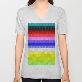 Geometric Colours Unisex V-Neck
