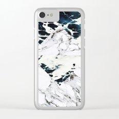 Ocean + Marble Clear iPhone Case