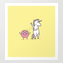 How donuts get sprinkles Art Print