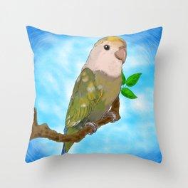 Skittles the Love Bird Throw Pillow