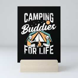 Camping Buddies Friendship Best Friend Gift Mini Art Print