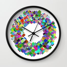 720 squares Wall Clock
