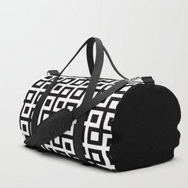 Geometric Pattern 33 (square loop) Duffle Bag