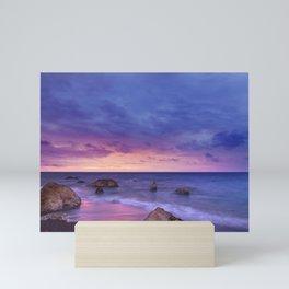 Purple Sunset Mini Art Print