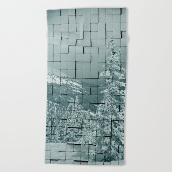 Winter collage Beach Towel