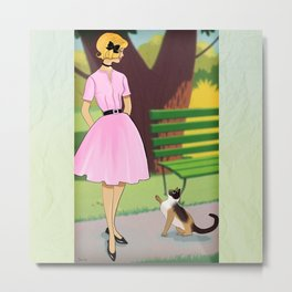 A Chance Meeting In The Park Metal Print