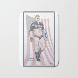 Steve Rogers Not So Stealth Suit Bath Mat