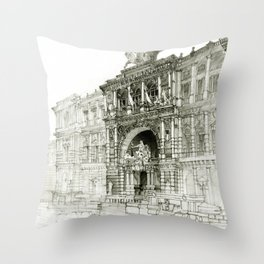 Roma palazzo Throw Pillow