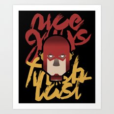 The flash is dead Art Print