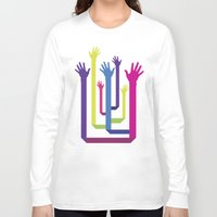 hands Long Sleeve T-shirts featuring Hands by Sitchko Igor