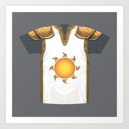Armor Series: Sun Paladin Mail Shirt Art Print