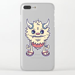 Desert Island Monster Clear iPhone Case