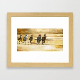 Down the Stretch Framed Art Print