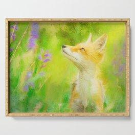 Enchanted Fox Serving Tray