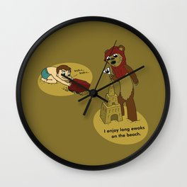 I Enjoy Long Ewoks on the Beach Wall Clock
