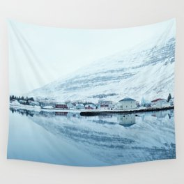 Houses by the water reflect Wall Tapestry