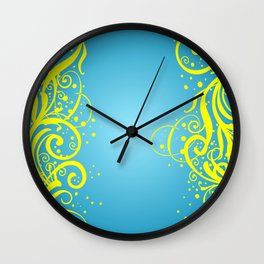 Abstract blue-yellow background Wall Clock