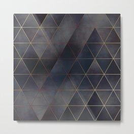 moody triangles 01 // golden & purple Metal Print