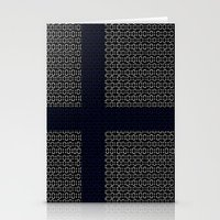 finland Stationery Cards featuring digital Flag (Finland) by seb mcnulty