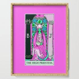 2. The High Priestess- Neon Dreams Tarot Serving Tray