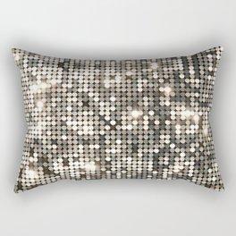 Silver disco glitter and sparkles Rectangular Pillow