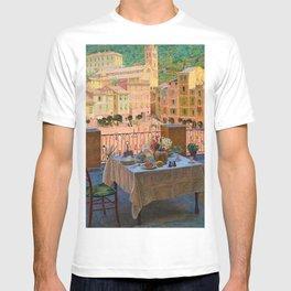 My lunch table in Portofino Italian Riviera by Kristian Zahrtmann T-shirt