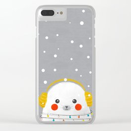 Christmas Baby Seal Clear iPhone Case