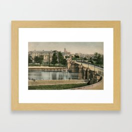 York general view and castle 1900 Framed Art Print