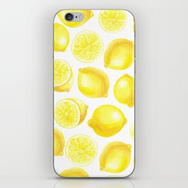 Watercolor lemons design iPhone Skin