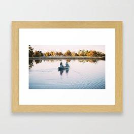 Paddling in Peace Framed Art Print