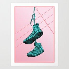 Converse Online Bubblegum Art Print