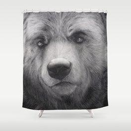 Bear Charcoal Shower Curtain
