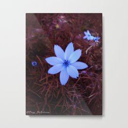 Shambhala Flower - White on Red 1 Metal Print