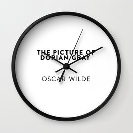 The Picture of Dorian Gray   —  Oscar Wilde Wall Clock