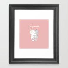 Cuddling kittens Framed Art Print