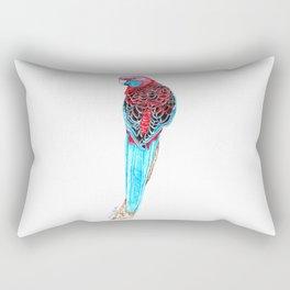 Blue Tail Parrot- The Pose Rectangular Pillow