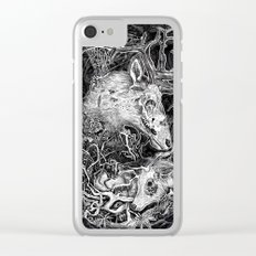 Elk Decay Clear iPhone Case
