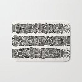 Tiki Totems – Black Bath Mat