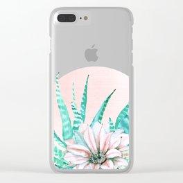 Desert Cactus Succulent Clear iPhone Case