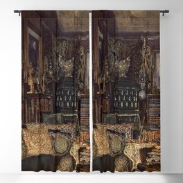 The Chamber Of Count Lanckoronski Vienna 1881 by Rudolf von Alt | Reproduction Blackout Curtain