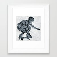 skate Framed Art Prints featuring Skate by mayrarosito