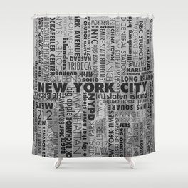 NYC//WORDS Shower Curtain