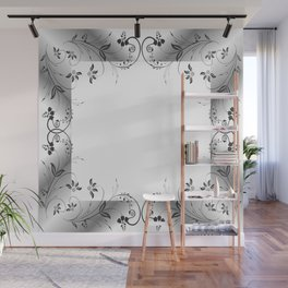 Abstract floral frame Wall Mural