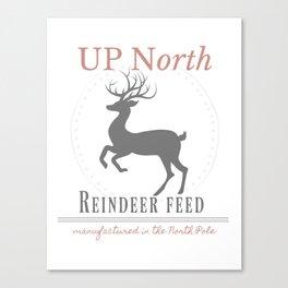 Up North Reindeer Feed Canvas Print