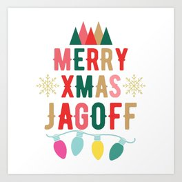 Pittsburgh Merry Christmas Jagoff Funny Xmas Gifts Art Print